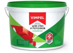 Краска VIMPEL Для стен и потолков с/б (3кг)